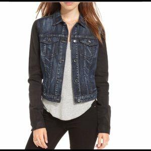 Adorable long sleeve color block denim jacket